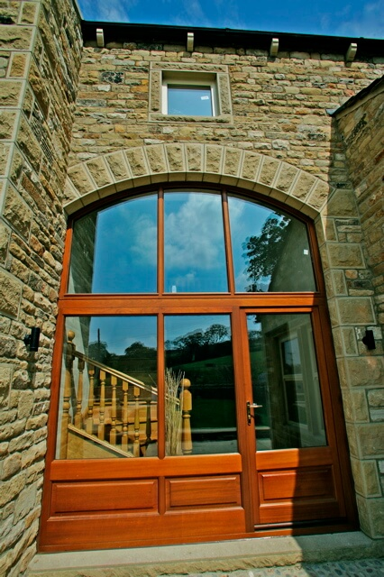 Arched Frame with Ready Hung Door Set (closed)