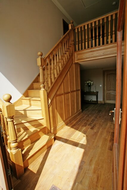 Oak Kite Winder Staircase (Shown In Situ)