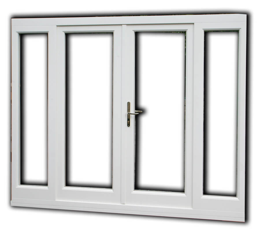 Ready Hung French Door Set With Side Lights