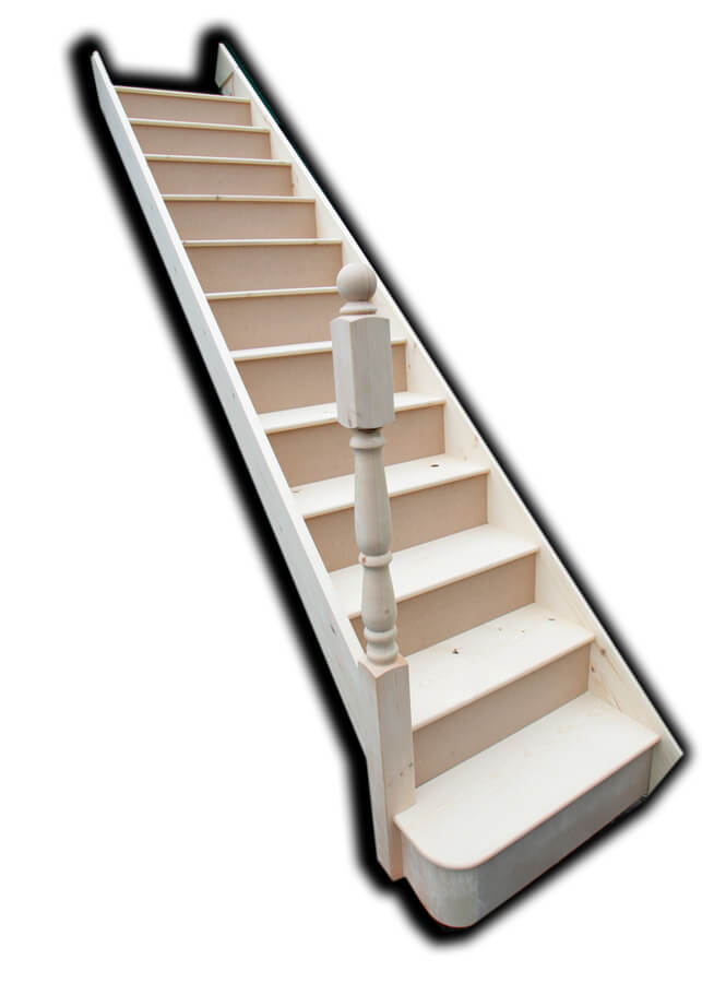 Straight Staircase With Bull Step
